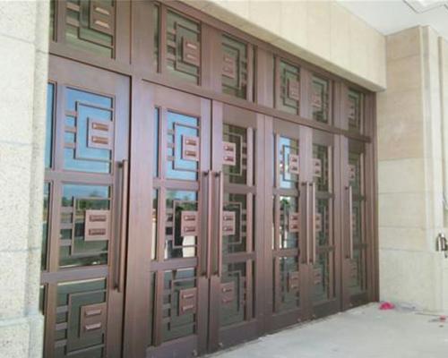 贵州玻璃铜门