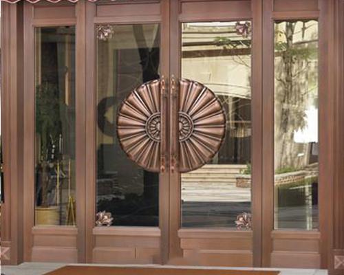 玻璃铜门批发
